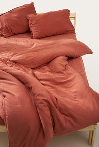 Nótt Fitted Sheet — Terra Cotta