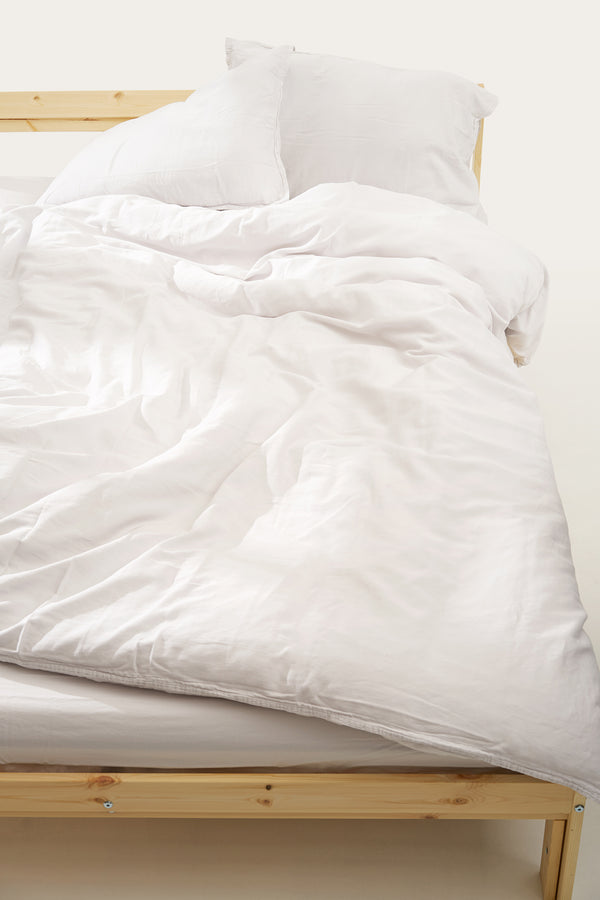 Load image into Gallery viewer, Nótt Duvet Cover — Soft White