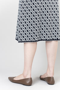 Halla Skirt — Navy & White