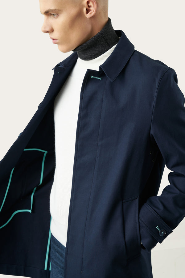 Load image into Gallery viewer, Tryggvi Mac Coat — Navy