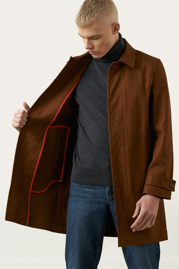 Load image into Gallery viewer, Tryggvi Mac Coat — Burnt Sienna