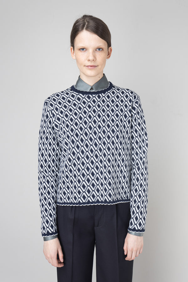 Load image into Gallery viewer, Halla Sweater — Navy & White