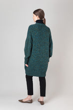 Load image into Gallery viewer, Vaka Cardigan — Green Melange