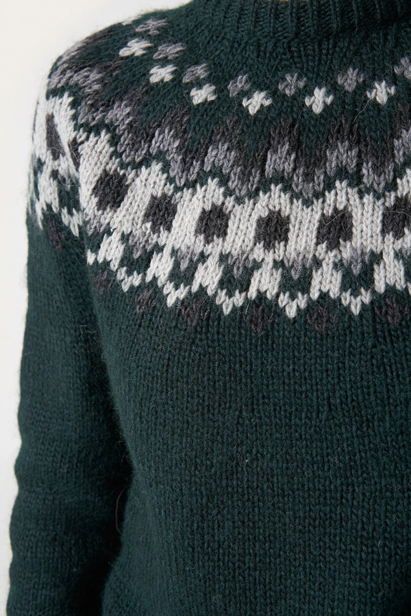 Load image into Gallery viewer, Hrefna Wool Sweater — Dark Green