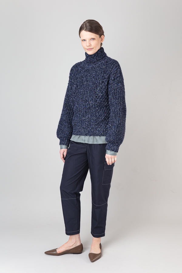 Load image into Gallery viewer, Björk Wool Mix Sweater — Blue