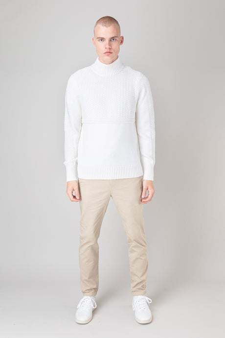 Ægir Merino Wool Sweater — White