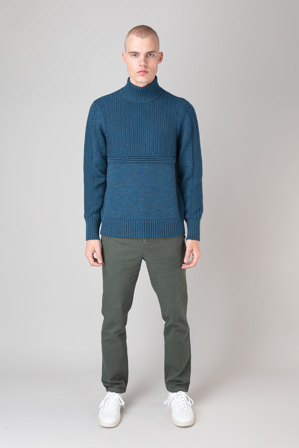 Load image into Gallery viewer, Ægir Merino Wool Sweater — Teal