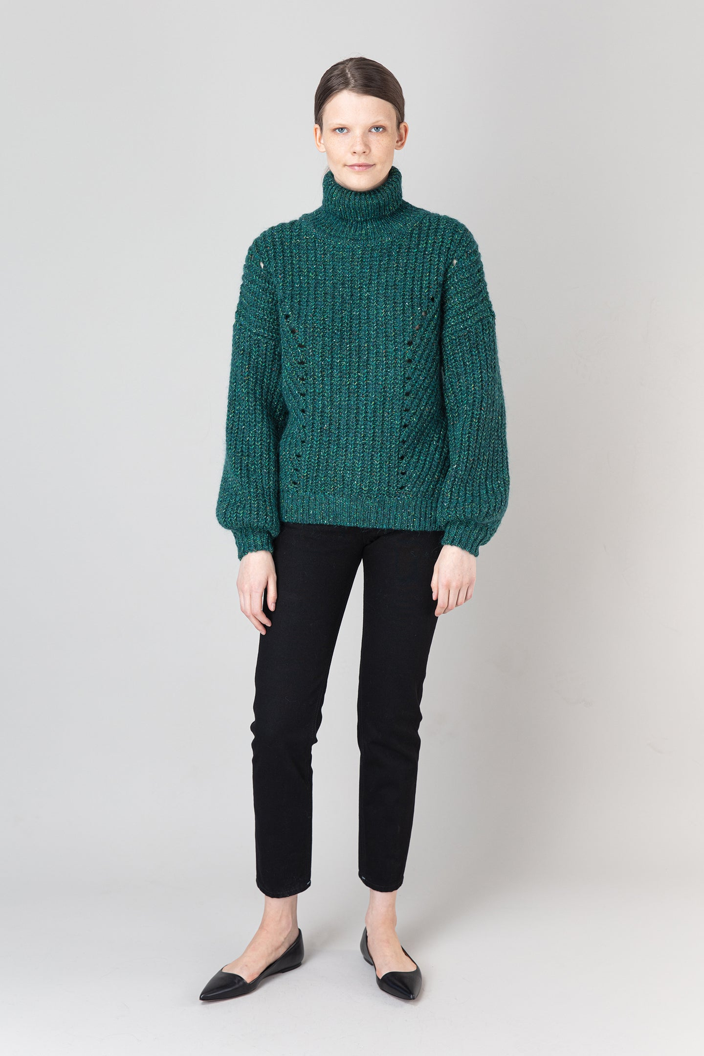 Björk Wool Mix Sweater — Teal