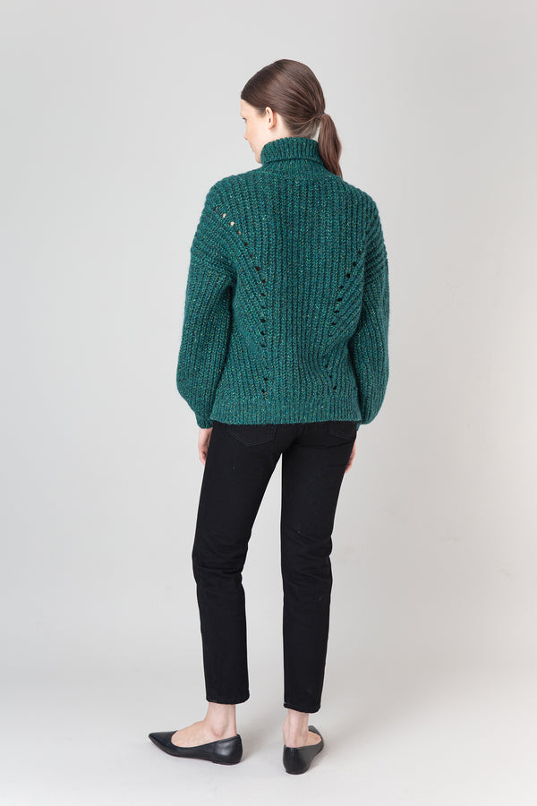 Load image into Gallery viewer, Björk Wool Mix Sweater — Teal