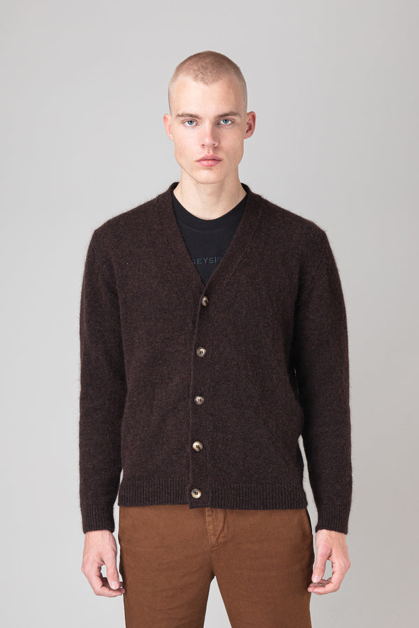 Load image into Gallery viewer, Andri Cardigan — Dark Brown