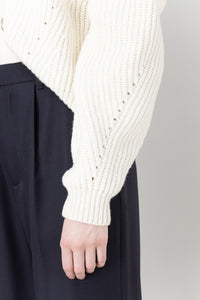 Brák — White Knit Cardigan