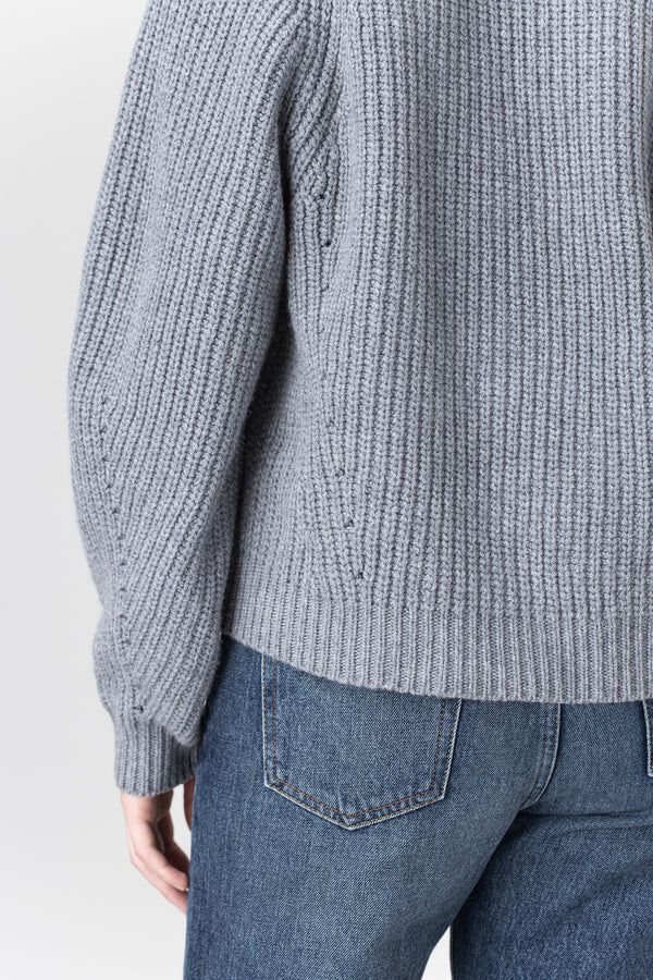 Load image into Gallery viewer, Brák — Grey knit Cardigan