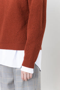 Brák — Rust Knit Sweater