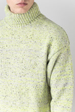 Load image into Gallery viewer, Arnar Wool Sweater — Grey Neon Melange