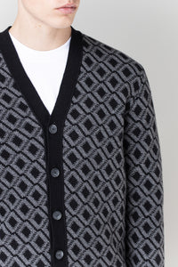 Ási Cardigan —  Black & Grey