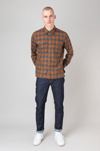 Auðunn Shirt — Ochre Check