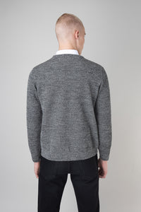 Ernir Wool Sweater — Black & White