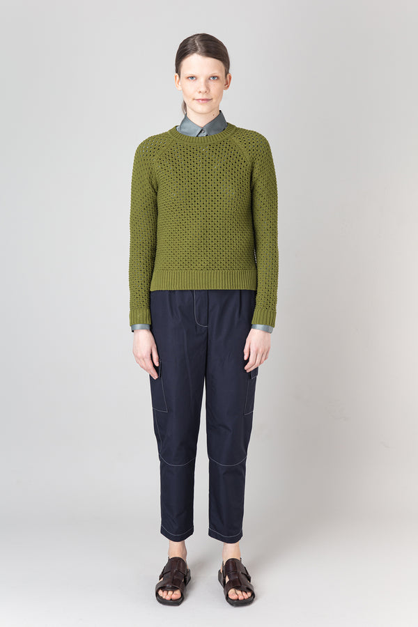 Load image into Gallery viewer, Salka Olive — Merino Wool Sweater