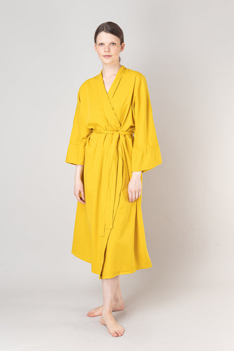 Nótt Bathrobe — Mustard