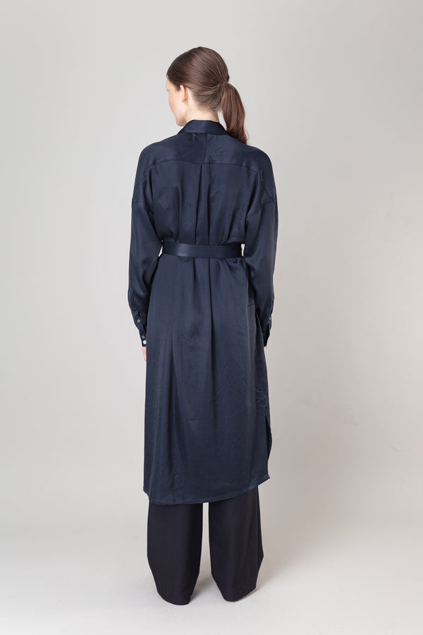 Load image into Gallery viewer, Steinunn Dress — Ink Blue
