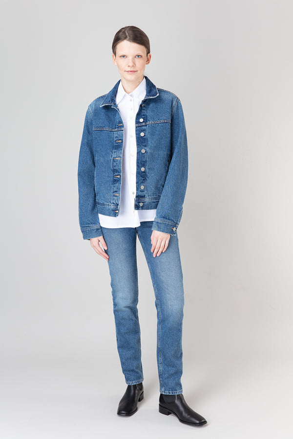 Load image into Gallery viewer, Vala Denim Jacket — Blue