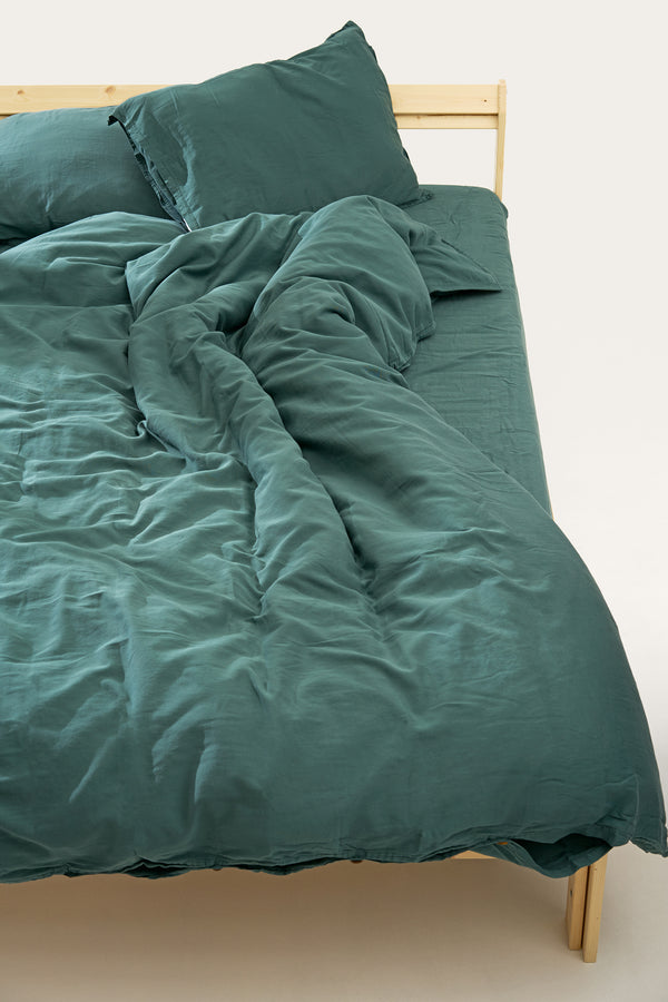 Load image into Gallery viewer, Nótt Fitted Sheet — Dark Teal