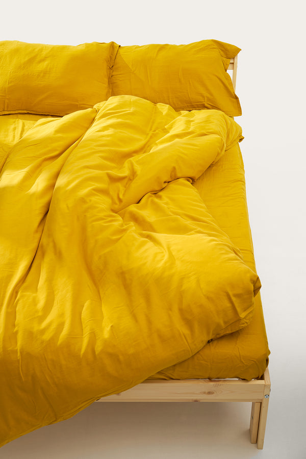 Load image into Gallery viewer, Nótt Fitted Sheet — Mustard