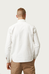 Bergur — White Cotton Shirt
