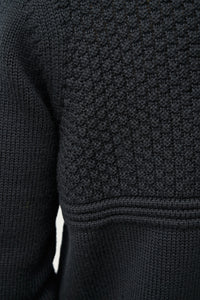 Ægir Merino Wool Sweater — Black