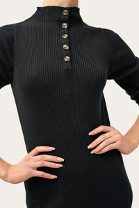 Eva — Ribbed Knit Dress