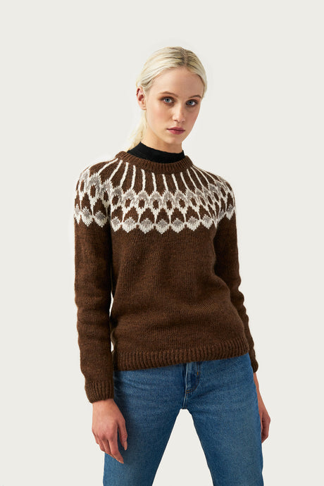 Urður Wool Sweater — Brown