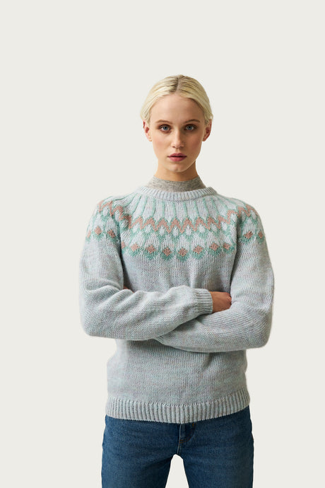 Urður Wool Sweater — Pastel Green