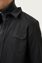 Load image into Gallery viewer, Bergur — Black Cotton Shirt