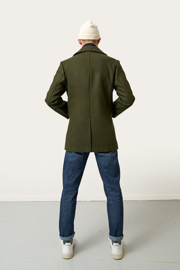 Load image into Gallery viewer, Reynir Wool Coat — Olive