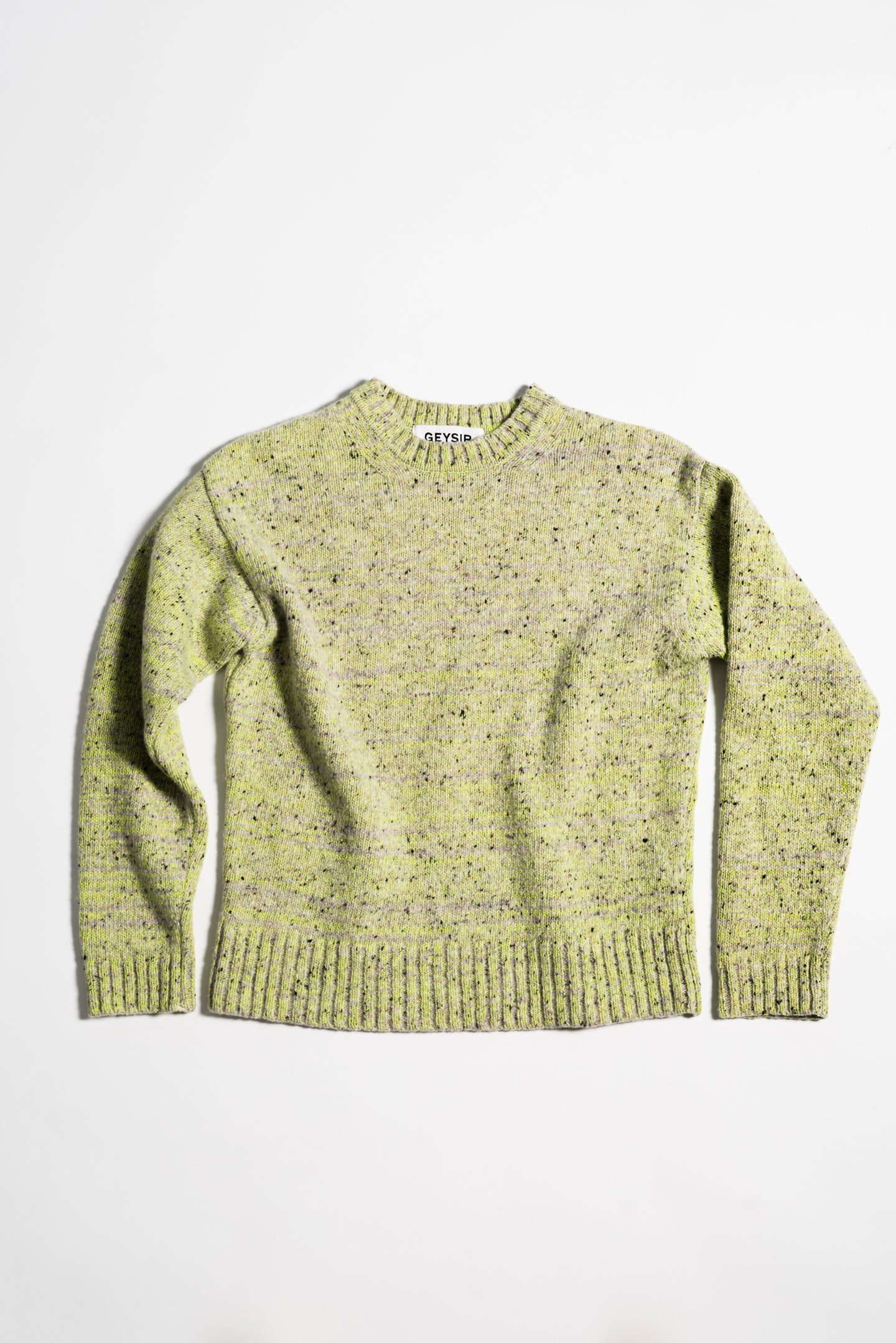 Korka Donegal Wool Sweater — Neon & Grey