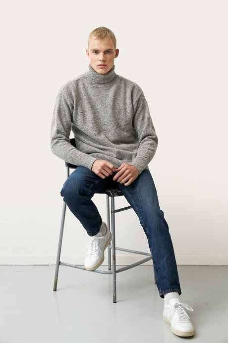 Arnar Wool Sweater — Grey Melange