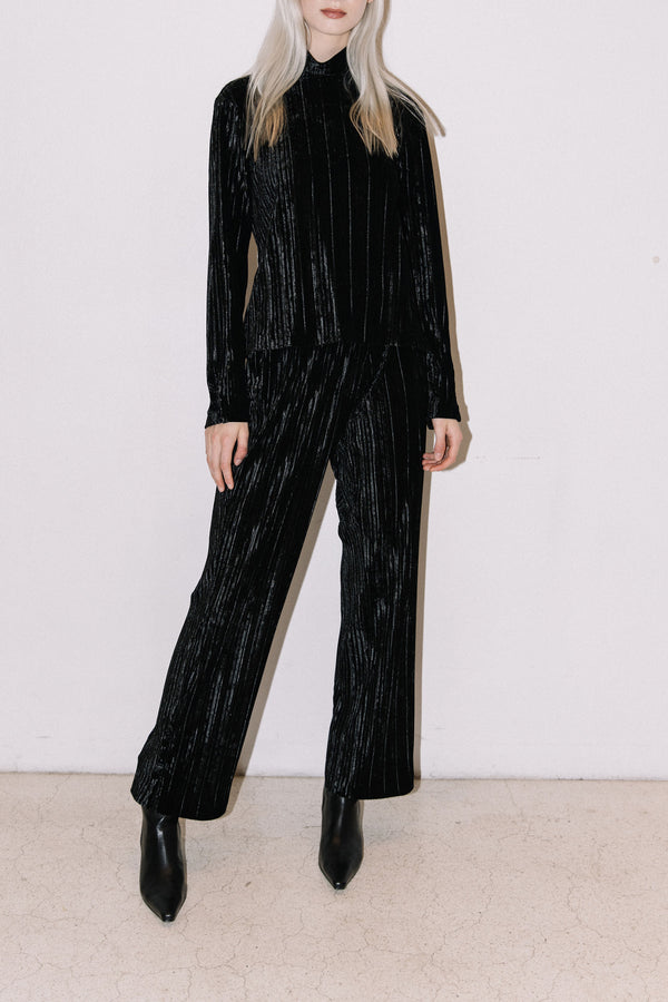 Load image into Gallery viewer, Bríet Trousers — Black Velvet