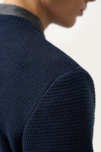 Ernir Merino Sweater — Navy