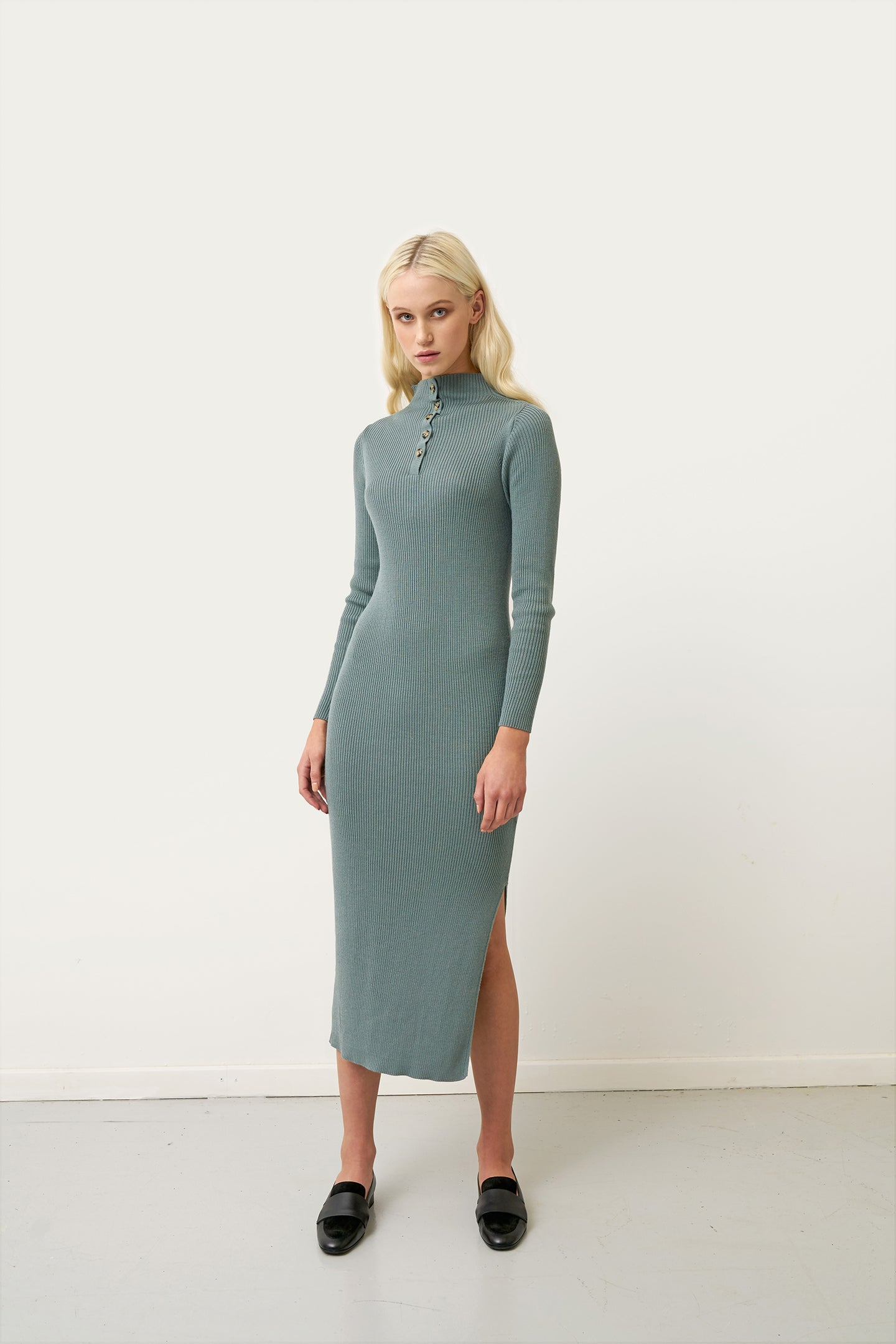 Eva — Rib Knit Dress