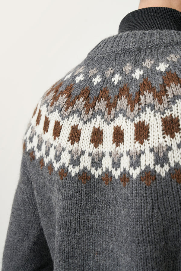 Load image into Gallery viewer, Fálki Wool Sweater — Grey