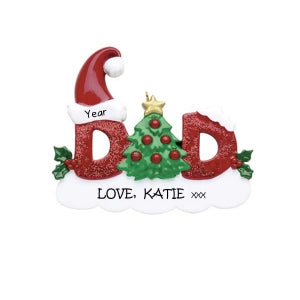 Dad personalised ornament