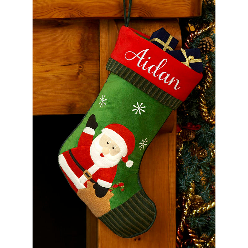 Personalised Christmas Stocking- Santa Design