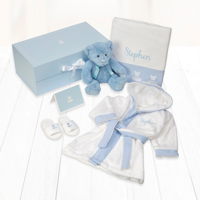 Baby Spa Personalised Gift Hamper - Blue