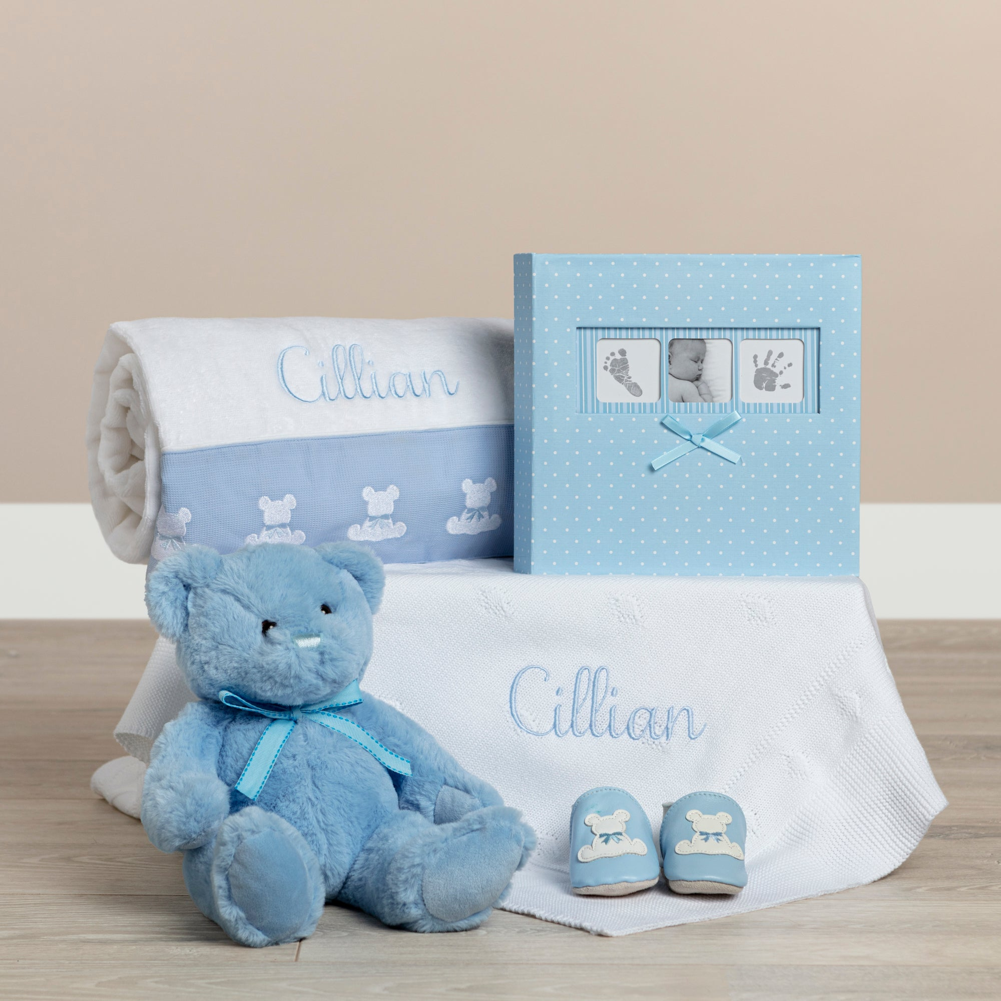 Teddy & Me Baby Gift Hamper- Blue