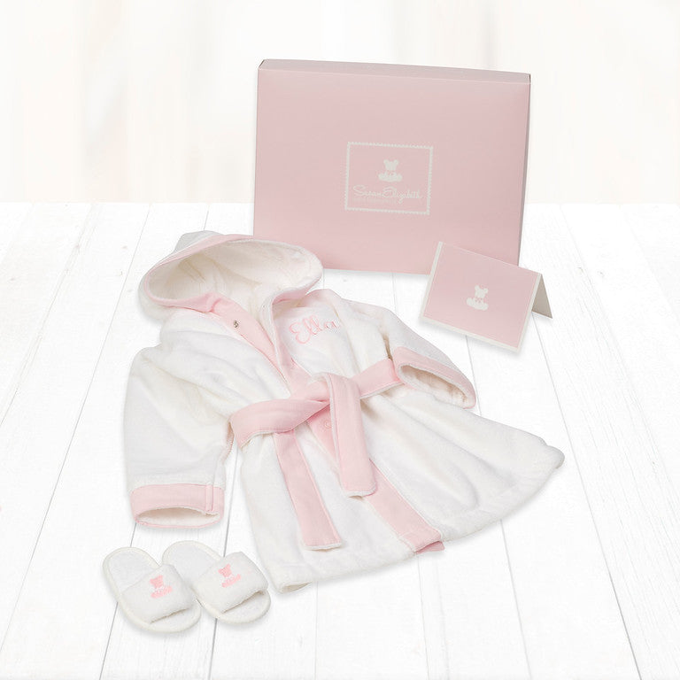Baby's 1st Bathrobe & Slippers- Pink