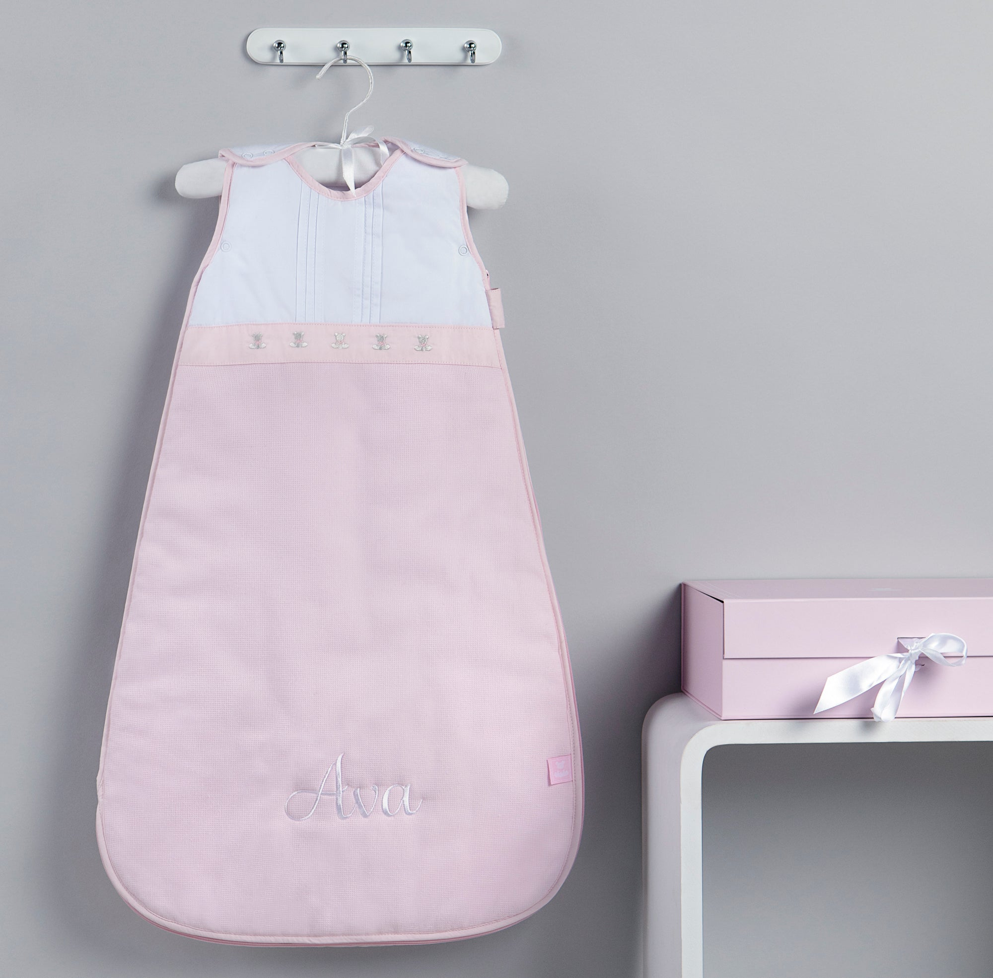 Signature Baby Sleeping Bag - Pink -Personalised Baby Gift