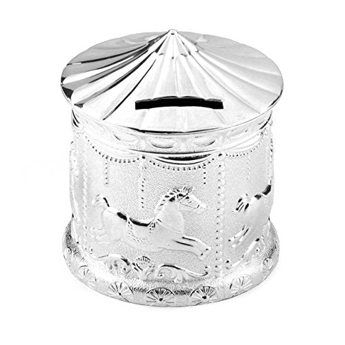 Silverplated Carousel Money Box