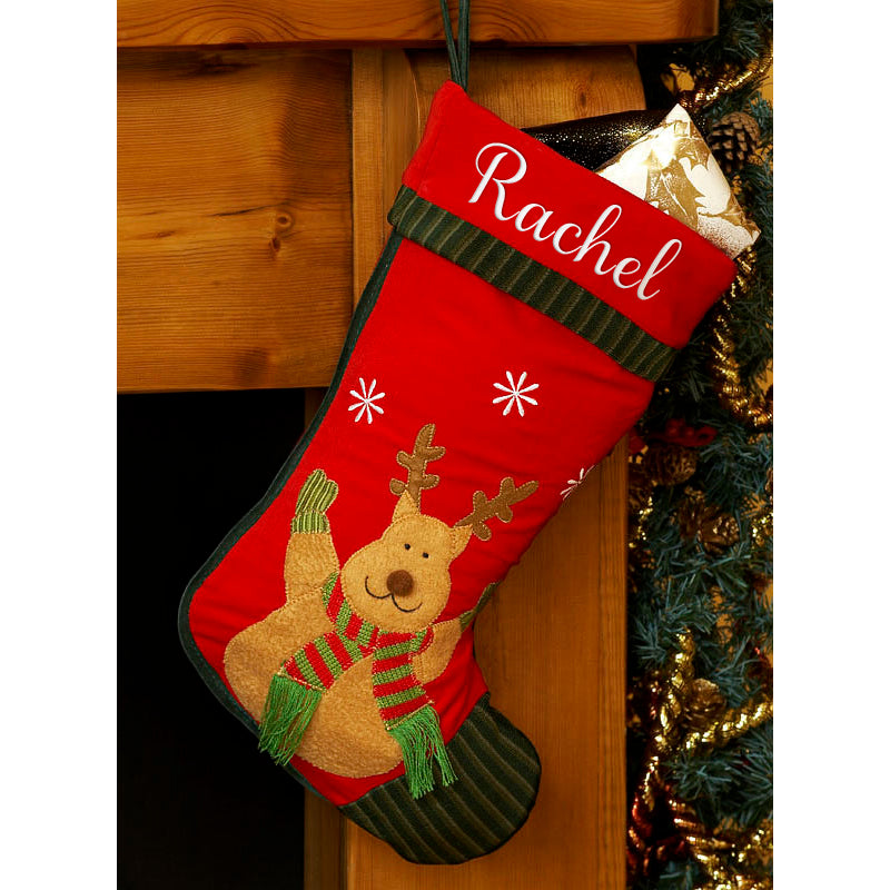 Personalised Christmas Stocking-Reindeer
