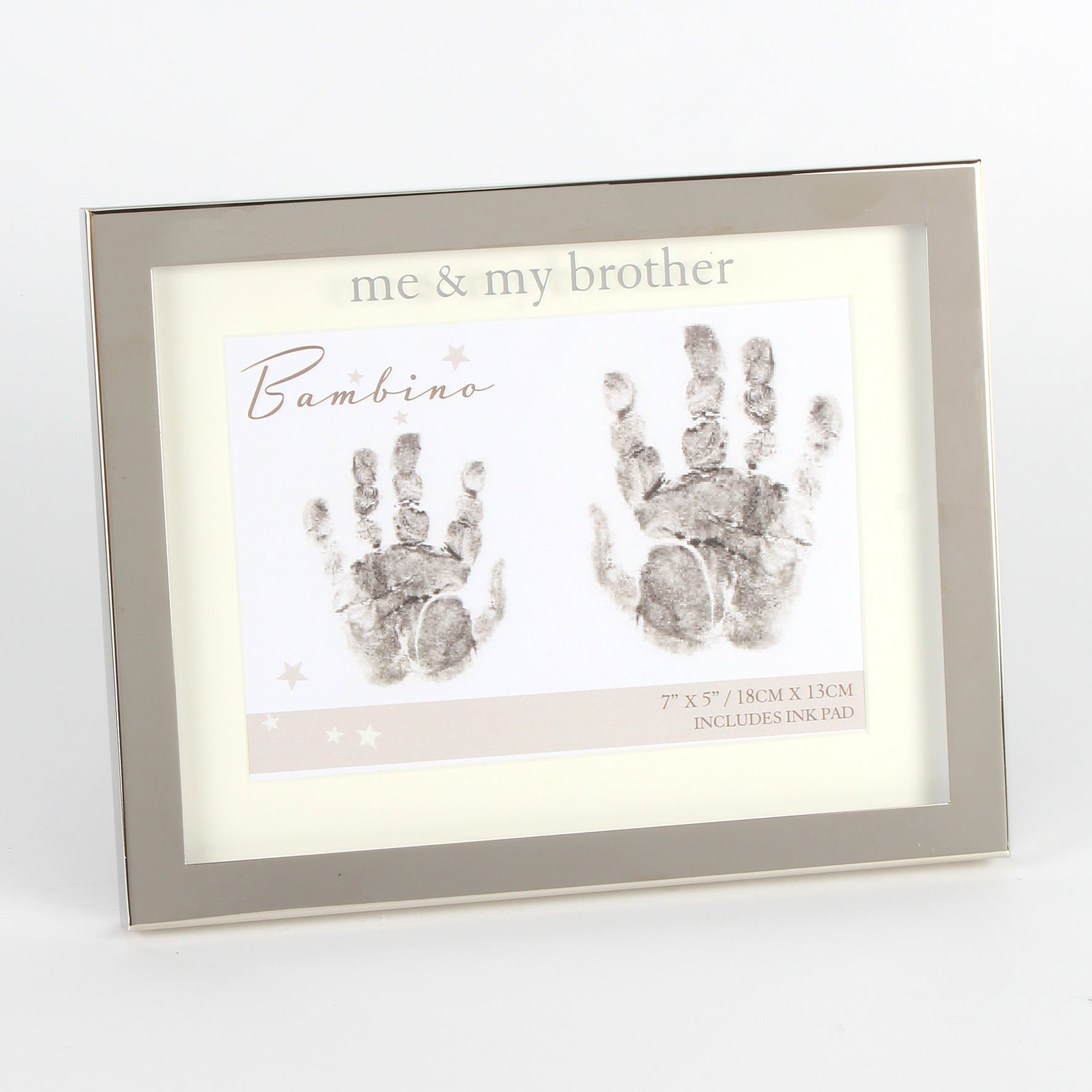 Me and My Brother Handprint Frame