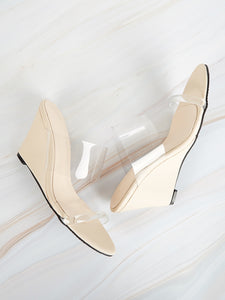 Two Part Transparent Wedges-Plain-Trendy-JayBoutique-EUR35-Trendy-JayBoutique